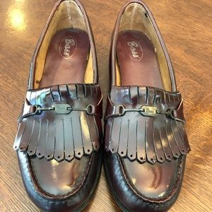 Bass Weejun loafers burgundy women's size 8.5